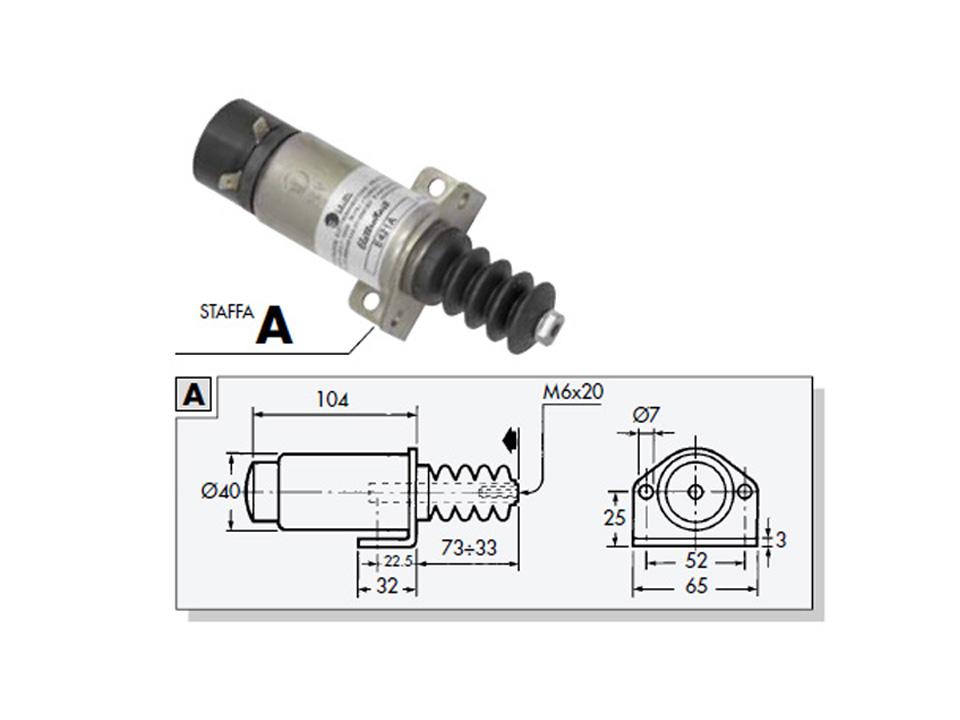 elettrostart e411a stop solenoid 12v