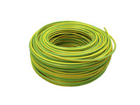 Cable Eléctrico Flexible 25 mm (1 metro) Tierra (Color: verde-amarillo) HV07V-K