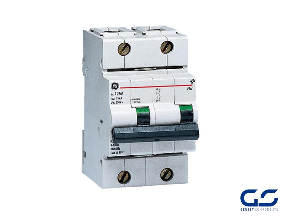 Circuit breaker 2P 125A Curve B 10 kA - GENSET COMPONENTS - Genset ...