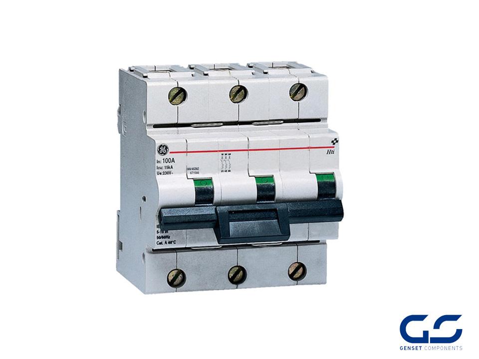 Circuit breaker 3P 100A Curve B 10 kA - GENSET COMPONENTS - Genset ...