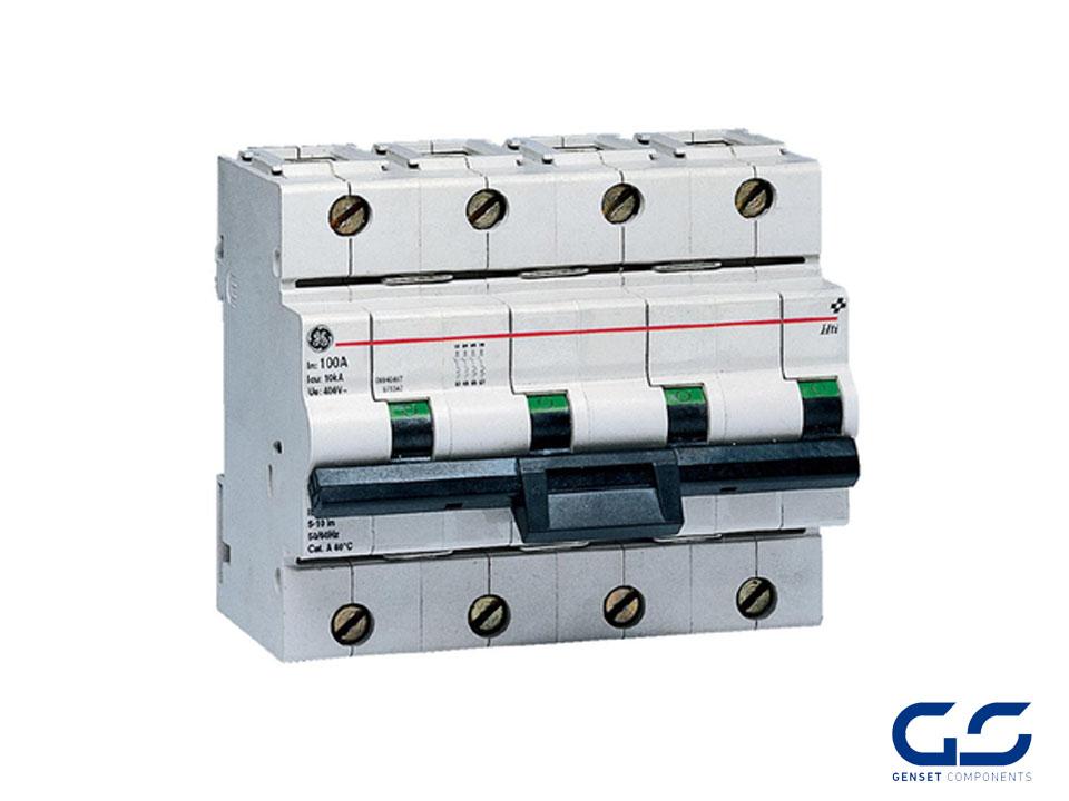 Circuit breaker 4P 125A Curve B 10 KA - GENSET COMPONENTS - Genset ...