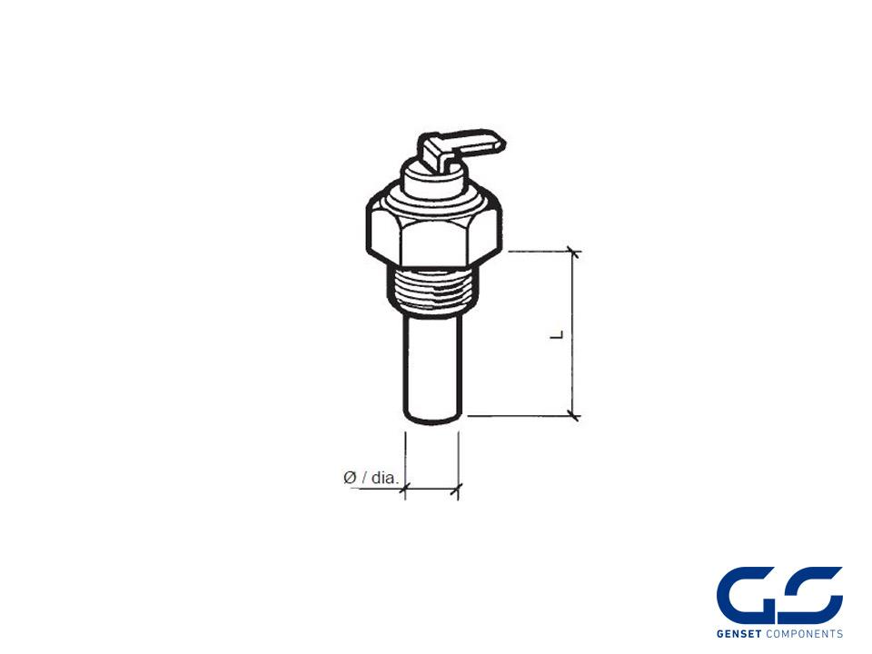 temperature sensor vdo 120 u00ba m-14x1 5 - genset components
